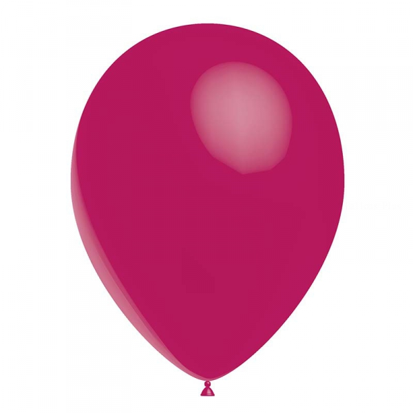 Fuschia opaque 24 cm poche de 100HG80p30fuschiaP100 BALOONIA Ballons Gamme Eco