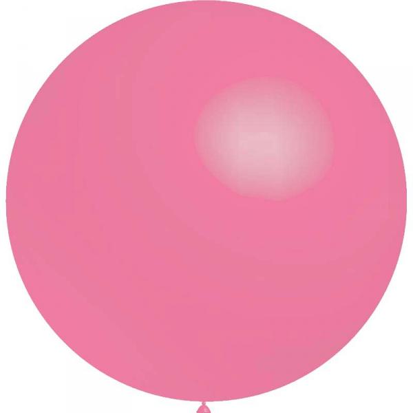 1 ballon 75cm rose métal ballonbnia75rosemétalp1 BALOONIA Ballons Gamme Eco