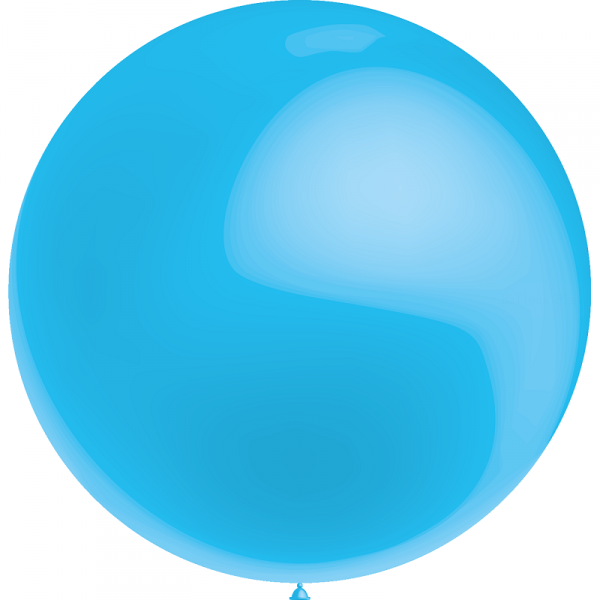 1 ballon 75cm bleu ciel métal ballon