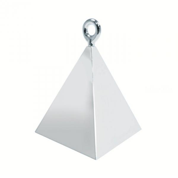 1 contrepoids argent pyramide
