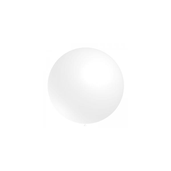 300 ballons blanc 60 cm Impression 1 couleur noire 2 faces