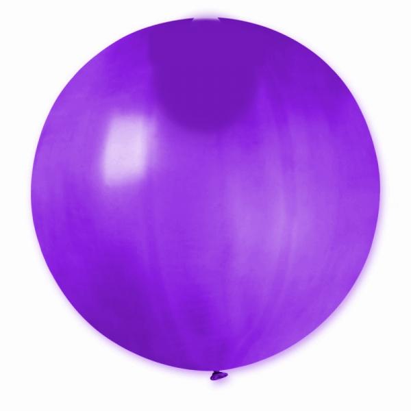 MÉTALLISÉ violet rond 40 cm POCHE DE 55740 BWS 40 cm rond métal (pour décoration air ou hélium )