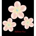 kit pour 3 fleurs peche à suspendre3 fleurs v1pêche Kit Fleurs Avec Ballons 28 Cm De Diamêtre