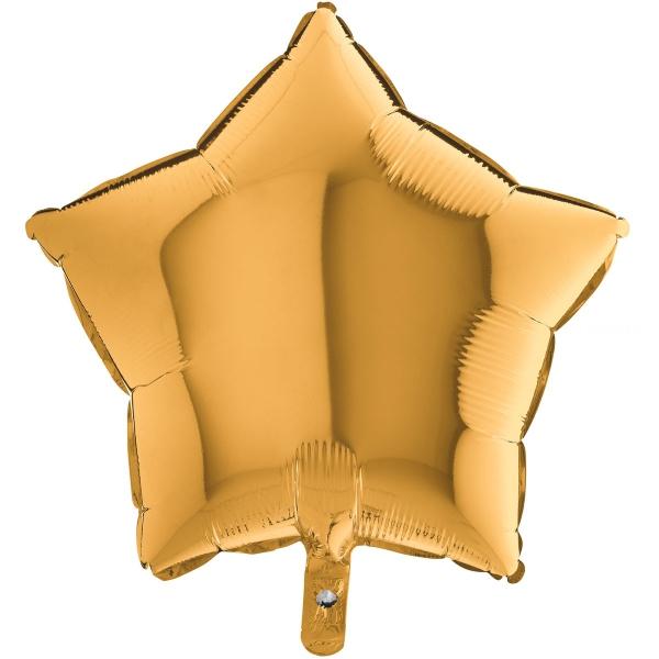 Etoile mylar or 90 cm de diamètre non gonflée Grabo Etoiles 90 cm