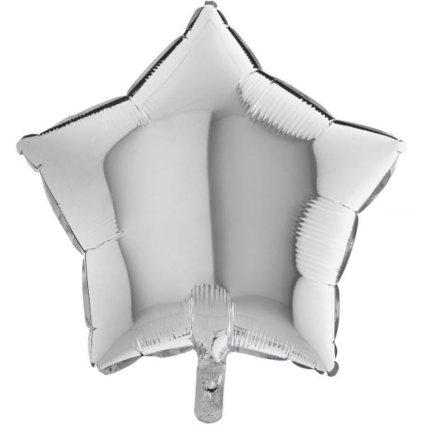Etoile mylar argent 90 cm de diamètre non gonflée Grabo ARGENT (métal) GRIS (opaque)