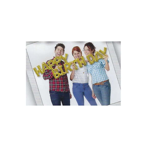 Happy birthday script or (gonflage air)36099 AMSCAN Anniversaire Ballons Metal Mylar