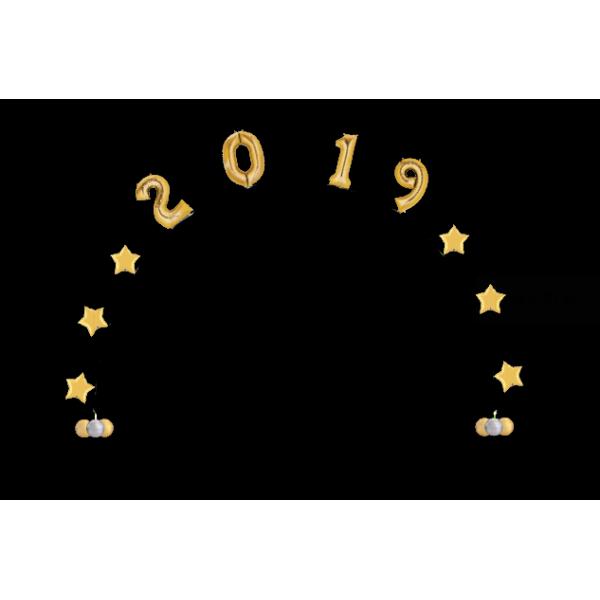 kit arche 2019 avec héliumarche 2019 or Kit Décor Ballons Arches Et Guirlandes