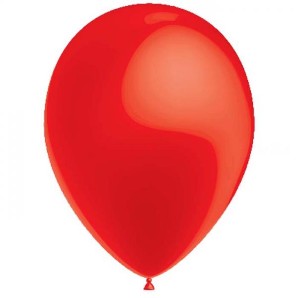 Rouge ballons métal 26 cm diamètre poche de 25