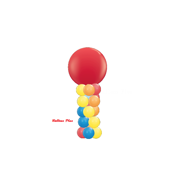 kit colonne 4 couleurscolonne rouge jaune orange bleu Decor Ballons Kits Colonnes