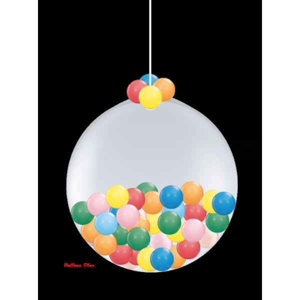 Kit suspension 1 ballon 100 cm + petits ballons