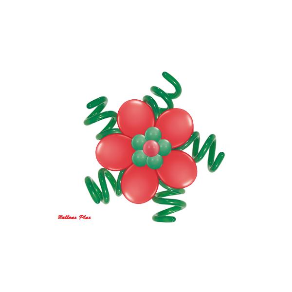 kit pour 3 fleurs de Noël à suspendre3 fleurs v2noël Kit Fleurs Avec Ballons 28 Cm De Diamêtre