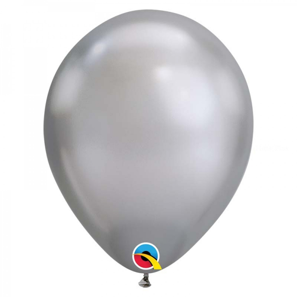 Chrome qualatex 28 cm argent poche de 25Chrome argent q28 p25 QUALATEX 28 Cm Metal Qualatex 28 Cm Ø Ballons