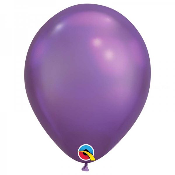 Chrome qualatex 28 cm violet poche de 25Chrome violet q28 p25 QUALATEX 28 Cm Metal Qualatex 28 Cm Ø Ballons