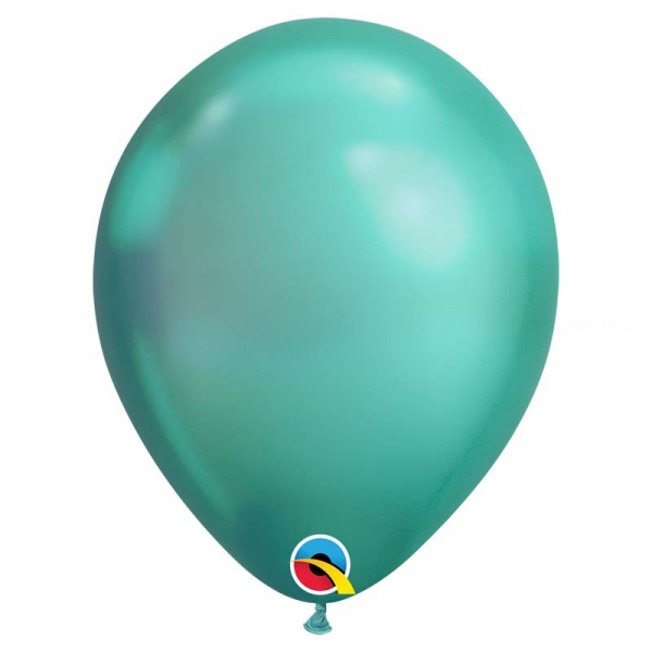 Chrome qualatex 28 cm vert poche de 25Chrome vert q28 p25 QUALATEX 28 Cm Metal Qualatex 28 Cm Ø Ballons