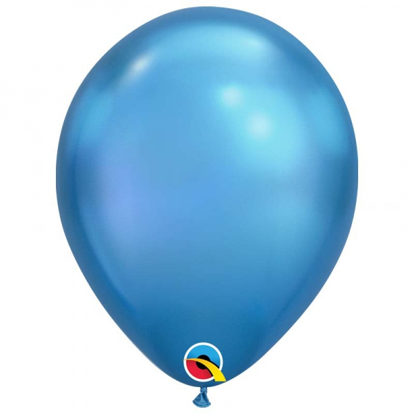 Chrome qualatex 28 cm bleu poche de 25Chrome bleu q28 p25 QUALATEX 28 Cm Metal Qualatex 28 Cm Ø Ballons