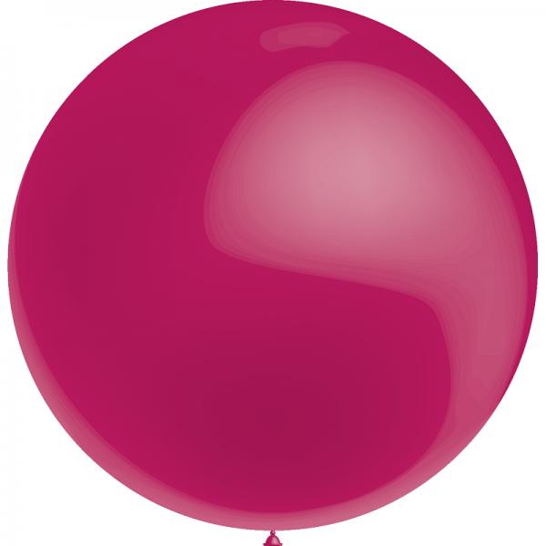1 ballon 75cm fuschia métal ballon