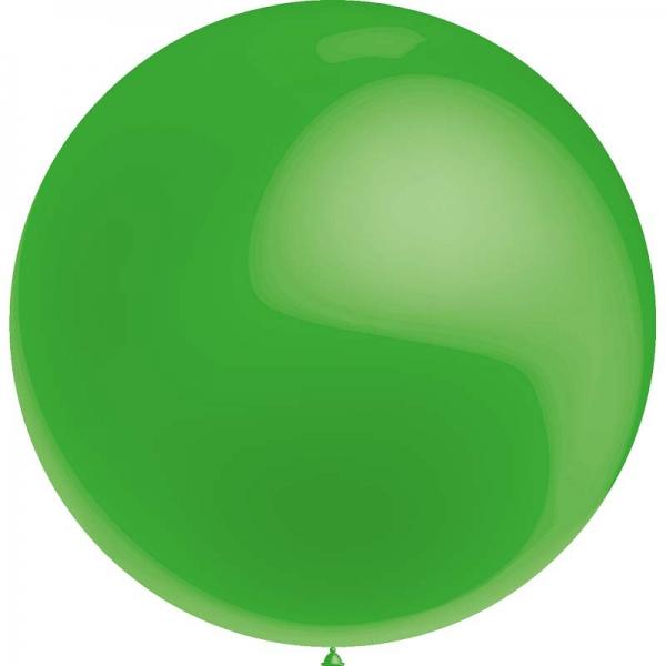 1 ballon 75cm vert claire métal ballon