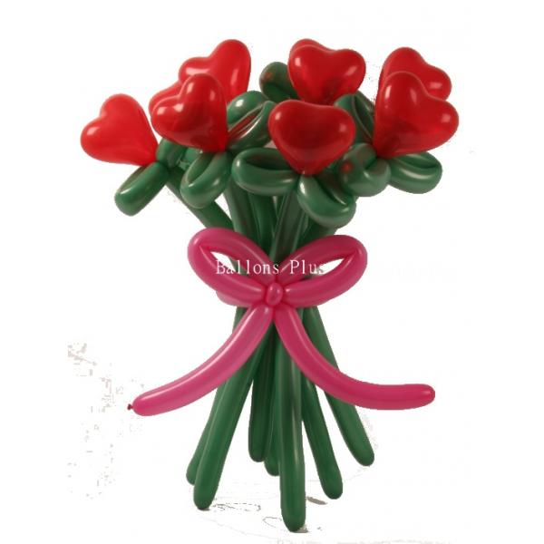 kit 12 fleurs coeur
