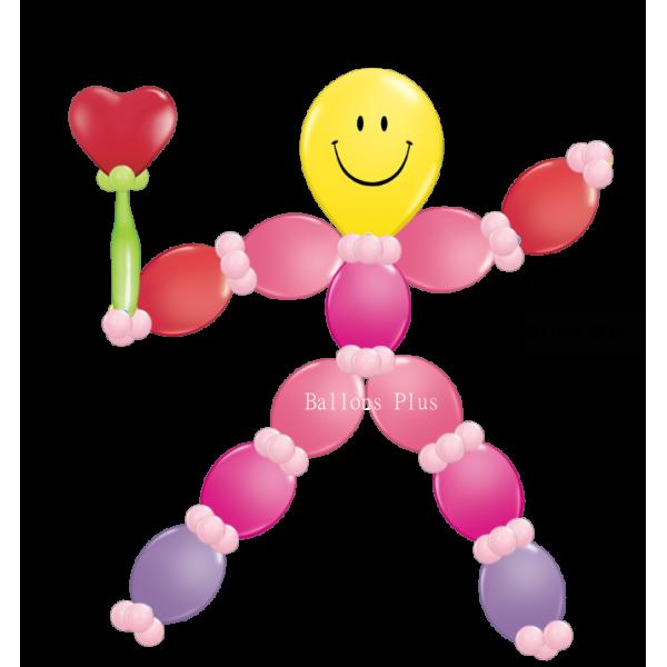 Kit personnage ballons à suspendrekitperlolrosecoeurv1 Kits Personnages