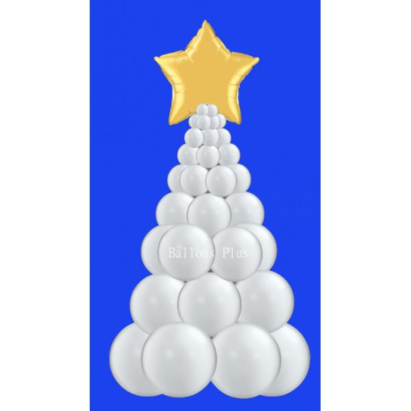 kit Sapin Noel argentballonsplus2018sapinnuargent Decor Ballons Kits Colonnes