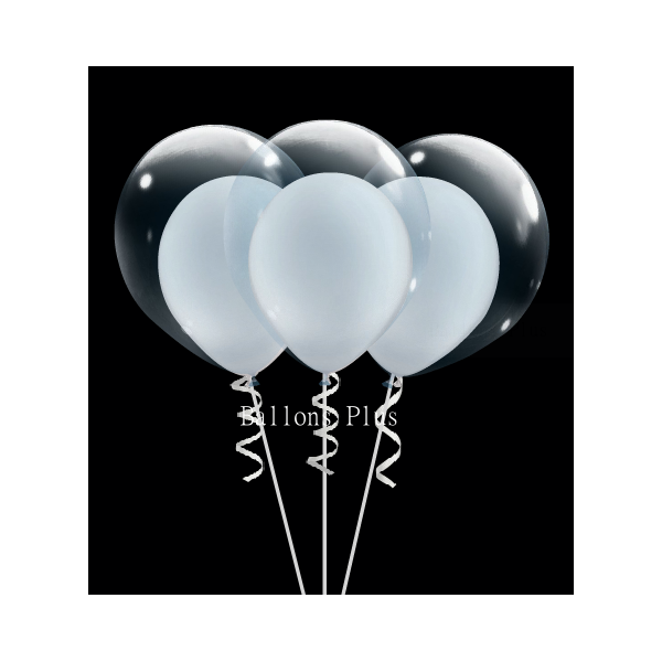 6 double bulle blanc perlébulle v1 blanc perlé Ballons Double Bulle