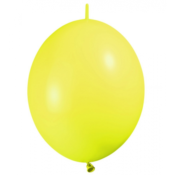 25 DOUBLE ATTACHE 30 cm opaque jaune citron eco lux885968 BALOONIA 30 cm Double attache eco lux