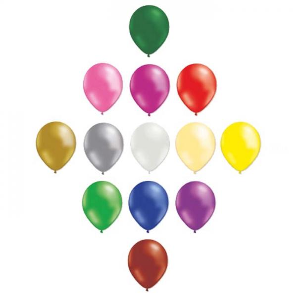 Multicouleur métal28 cm POCHE DE 50bnia multi métal 28p50 BALOONIA Ballons Gamme Eco