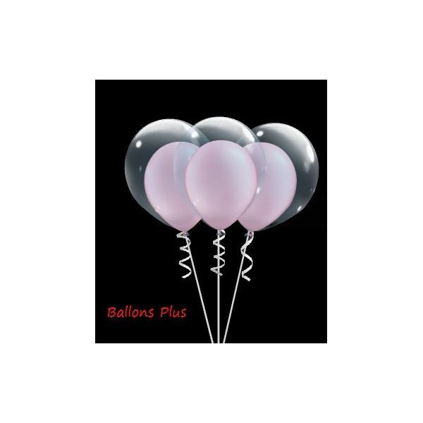 kit ballons pour créer 6 double bulle rose perlé