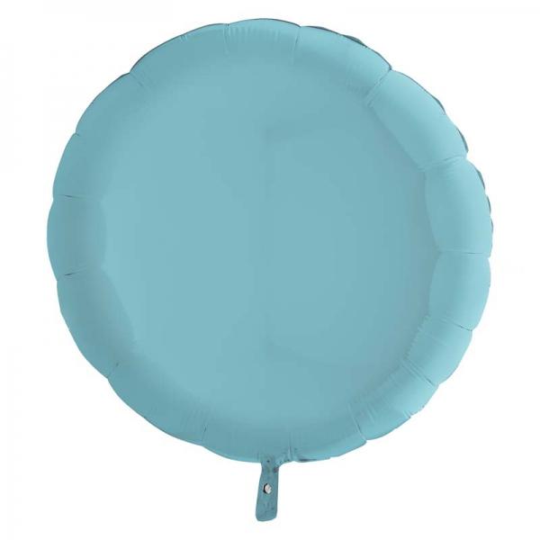 Bleu pastel rond metal mylar 90 cm vendu non gonflé Grabo Rond Mylar 90 Cm