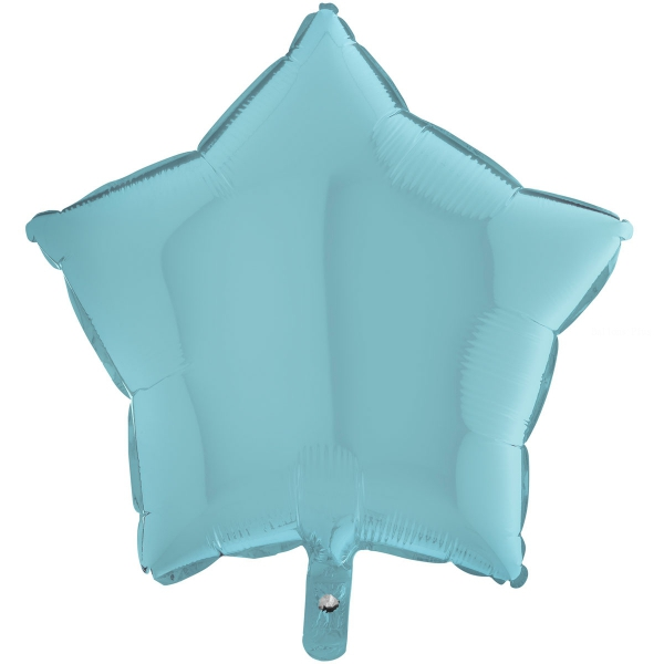 Etoile mylar bleu pastel 90 cm de diamètre non gonflée Grabo Etoiles 90 cm