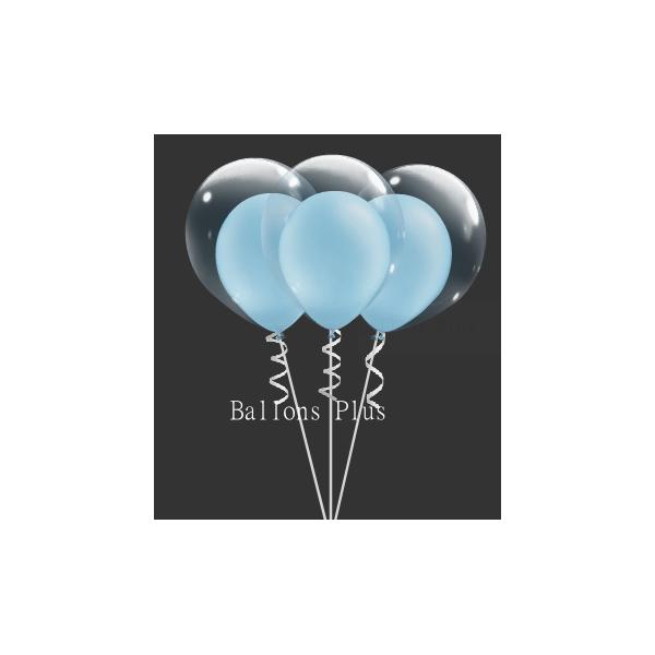 kit pour créer 6 double bulle bleu ciel perlé