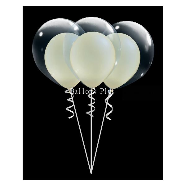 kit pour 6 double bulle ivoire perlébulle v2 ivoire perlé Kits Ballons