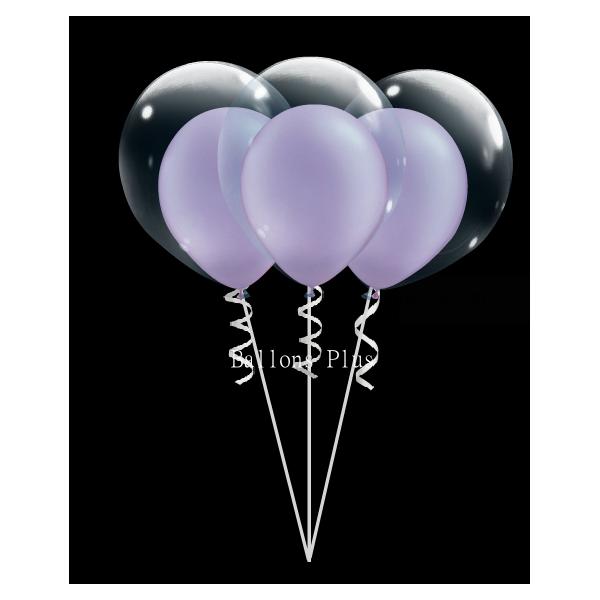 kit pour créer 6 double bulle lilas perlé