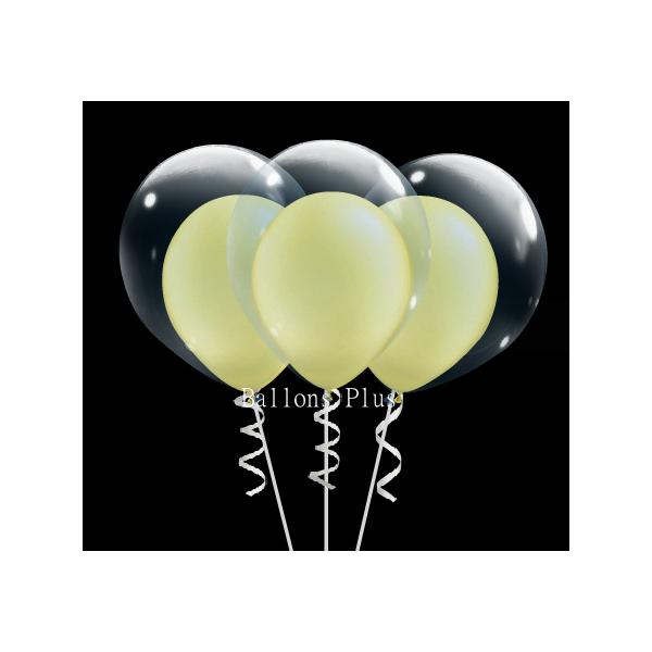 kit pour 6 double bulle jaune pastel perlébulle v2 jaune pastel perlé Kits Ballons