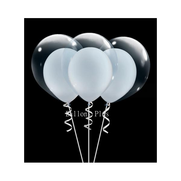 kit pour 6 double bulle blanc perlébulle v2 blanc perlé Kits Ballons