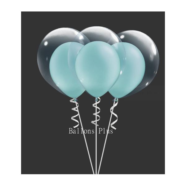 kit pour 6 double bulle vert pastel perlé