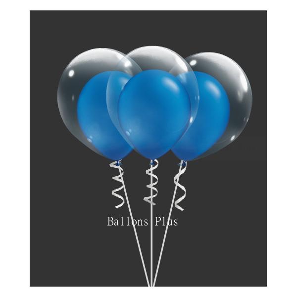kit pour 6 double bulle bleu métalbulle v2 vert bleu métal Kits Ballons