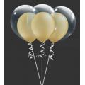 kit pour 6 double bulle or métalbulle v2 or métal Kits Ballons
