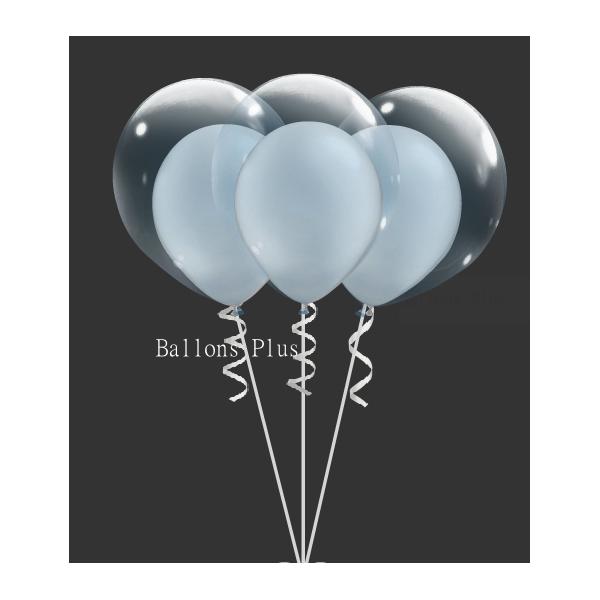 kit pour 6 double bulle argent métalbulle v2 argent métal Kits Ballons