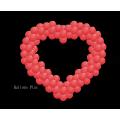 KIT SUSPENSION coeur Rouge 90 cm