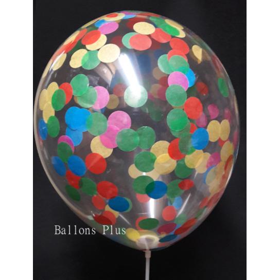 kit pour 12 ballons confettis couleurs vives