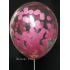 kit pour 12 ballons confettis fushia