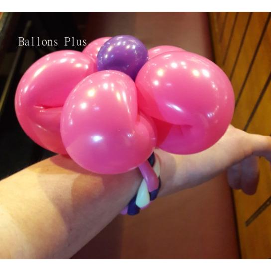 kit pour réaliser 6 bracelets fleurs couleurs pastels avec ballons sculpture 260