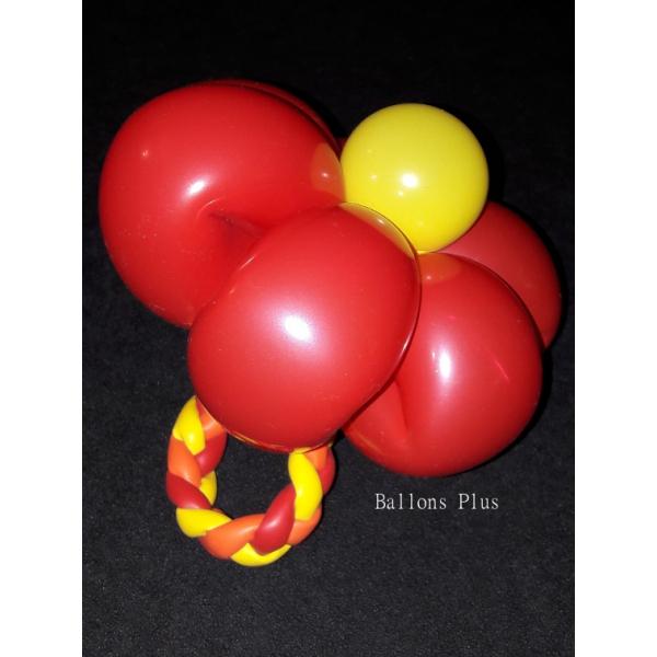 kit pour réaliser 6 bracelets fleurs couleurs vives avec ballons sculpture 260