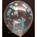 kit pour créer 12 ballons confettis bleu ciel