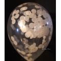 kit pour créer 12 ballons confettis ivoire