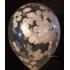 kit pour 12 ballons confettis ivoire