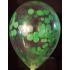 kit pour 12 ballons confettis vert