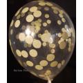 kit pour créer 12 ballons confettis jaune pastel