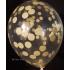 kit pour 12 ballons confettis jaune pastel
